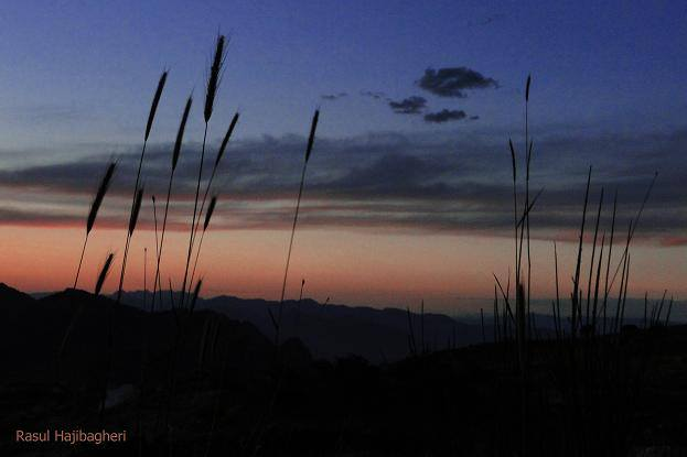 طبیعت استهبان - غروب کوه تودج - بهار ۱۳۹۳