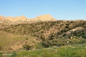 منطقه تودج، قله ی بیللو در پس زمینه